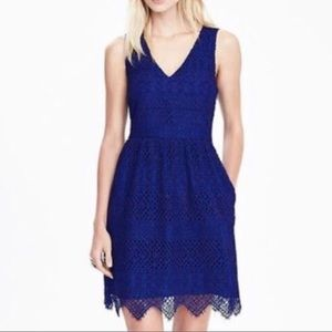 Banana Republic blue lace dress. NWT